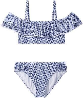 Janie and Jack Geo Print Two-Piece Swim Set Girl's Swimwear Sets