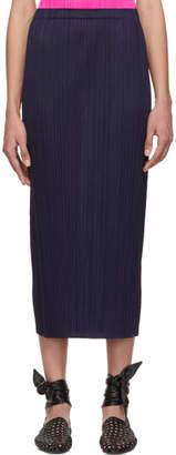Pleats Please Issey Miyake Navy Pleated Skirt
