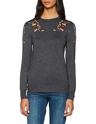 Warehouse Women's Embellished Shoulder Lace Trim Jumper