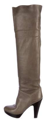 L'Autre Chose Leather Over-The-Knee Boots
