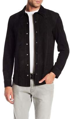 Frame Suede Long Sleeve Button Down Shirt