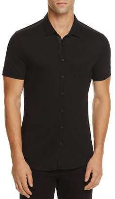 John Varvatos Collection Pima Cotton Knit Slim Fit Button-Down Shirt