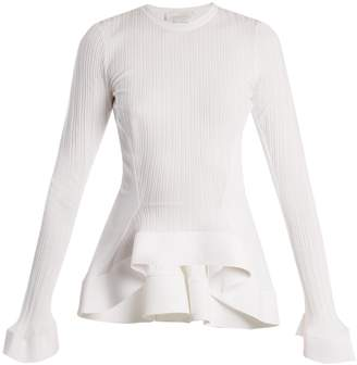 Esteban Cortazar Fluted-panel ribbed-knit sweater