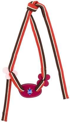 Marni crystal web necklace