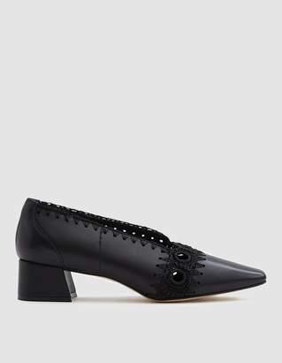 Miista Mara Crochet Heel in Black