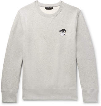 Alexander McQueen Embroidered Mélange Fleece-Back Cotton-Blend Jersey Sweatshirt