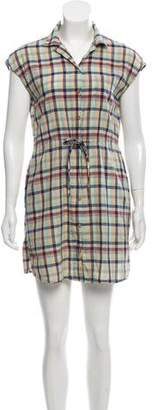 Steven Alan Plaid Mini Dress
