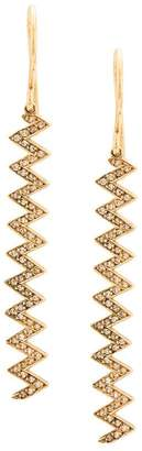 Jennifer Meyer 18kt yellow gold zigzag drop earrings