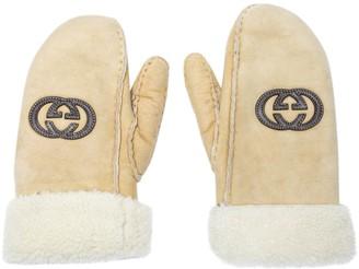 Gucci Beige Wool Gloves