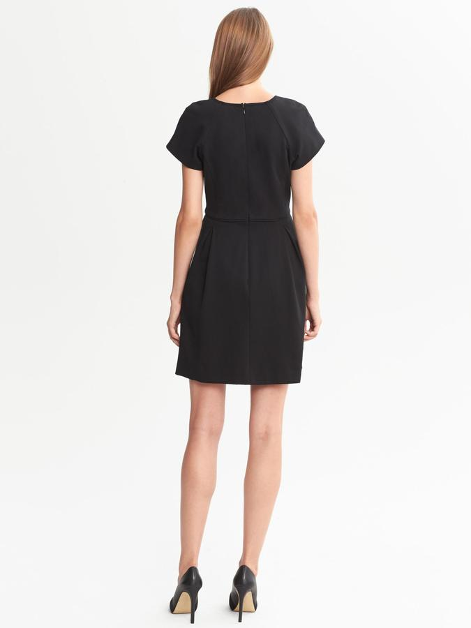 Banana Republic Ponte Fit-and-Flare Dress