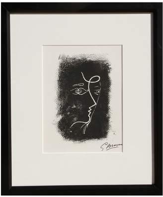 RoGallery Profil de Femme from Souvenirs de Portraits d'Artistes. Jacques Przvert: Le Coeur l'ouvrage (M.25) by Georges Braque (Lithograph)