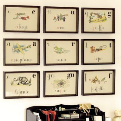 Italian Alphabet Prints