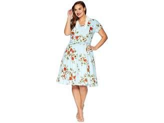 Unique Vintage Plus Size Campbell Swing Dress Women's Dress
