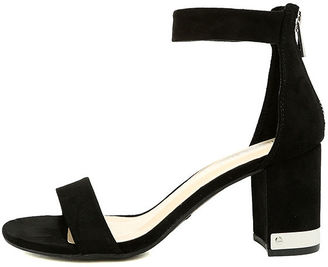 Violetta Black Suede Ankle Strap Heels $36 thestylecure.com