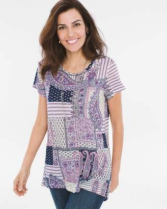 Chico's Paisley Quilt High-Low Tee