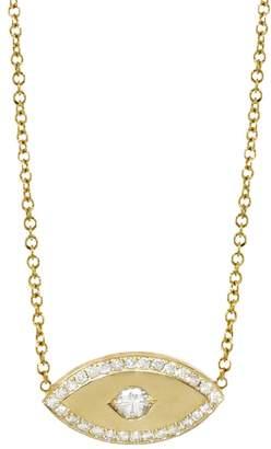 Jennifer Meyer Diamond Evil Eye Necklace