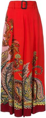 Etro mixed paisley wide-leg trousers