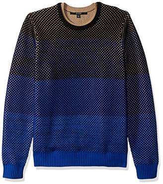GUESS Men's Mesh Ombre Sweater