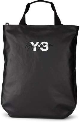 Y-3 Model Logo Black Wax Canvas Bag