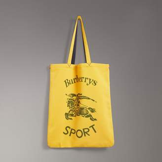 Burberry Large Archive Logo Jersey Shopper