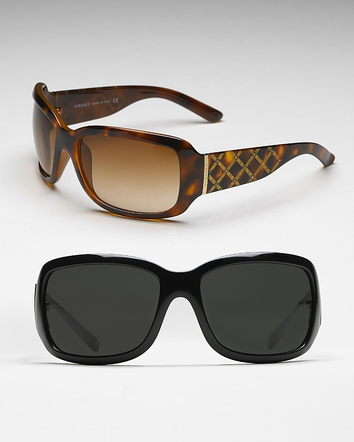 Versace Women's Criss-Cross Rhinestone Sunglasses