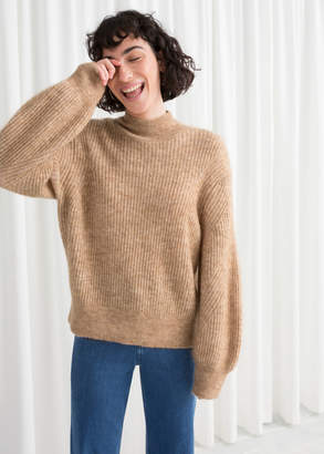 And other stories Wool Blend Cable Knit Sweater