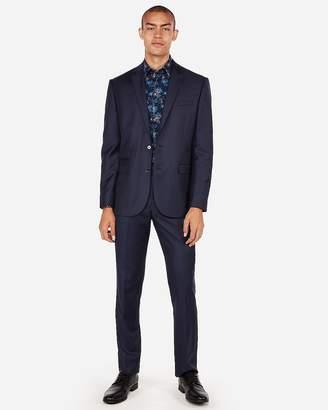 Express Slim Navy Luxury 100% Wool Suit Jacket