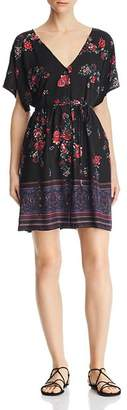 Band of Gypsies Curacao Floral-Print Mini Dress