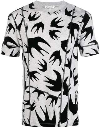 McQ sparrow print T-shirt