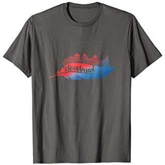 Cleveland Skyline T Shirt - Native American Feather Tee