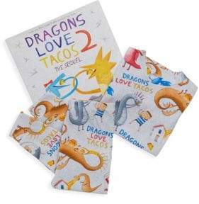 Books To Bed Little Boy's& Boy's Dragons Love Tacos Two Pajama and Book Set