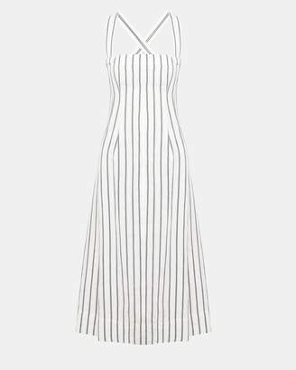 1f6b9f5de3d Theory Striped Linen Bustier Sun Dress