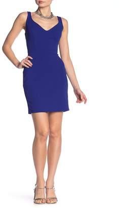 Jump V-Neck Exposed Zip Dress