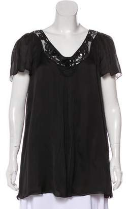 Temperley London Embellished Silk Top