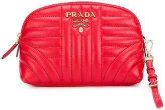 Prada quilted zip around make-up bag