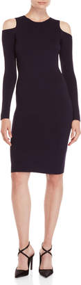 Eliza J Cold Shoulder Midi Knit Dress