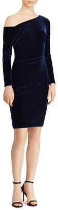 Lauren Ralph Lauren One Shoulder Velvet Dress - 100% Exclusive