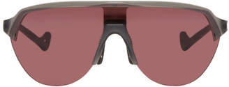 District Vision Grey and Pink Nagata Speed Blade Sunglasses