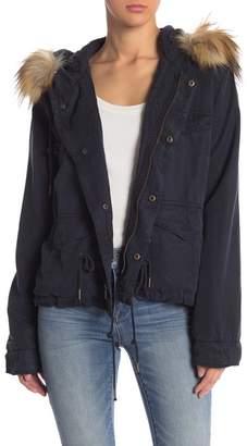 Young Fabulous & Broke Wells Faux Fur Hooded Jacket