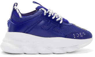 Versace Blue Chain Reaction Sneakers