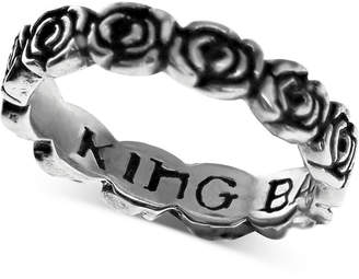 King Baby Studio Women's Rose Band in Sterling Silver