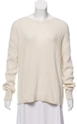 Vince Cashmere-Blend Rib Knit Sweater