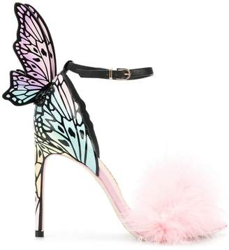 Sophia Webster butterfly feather embellished sandals