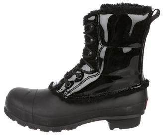 Hunter Patent Leather Rain Boots