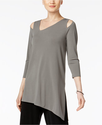 Alfani Cold-Shoulder Asymmetrical Top, Created for Macy's $59.50 thestylecure.com