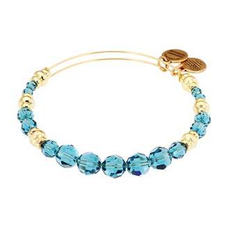 "Alex and Ani Swarovski Beaded"" Sky Expandable Wire Gold Bangle Bracelet"