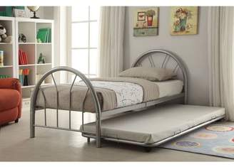 Generic Silhouette Twin Bed, Silver