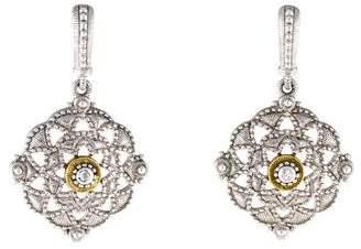 Judith Ripka Sapphire Cutout Drop Earrings