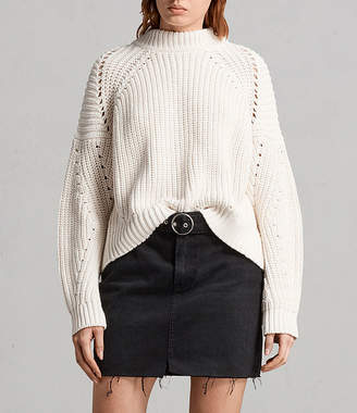 AllSaints Malu Pointelle Sweater