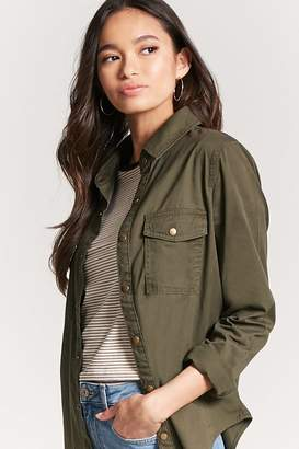FOREVER 21+ Snap-Button Shirt $22.90 thestylecure.com